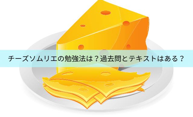 チーズソムリエの勉強法は?過去問とテキストは入手できない